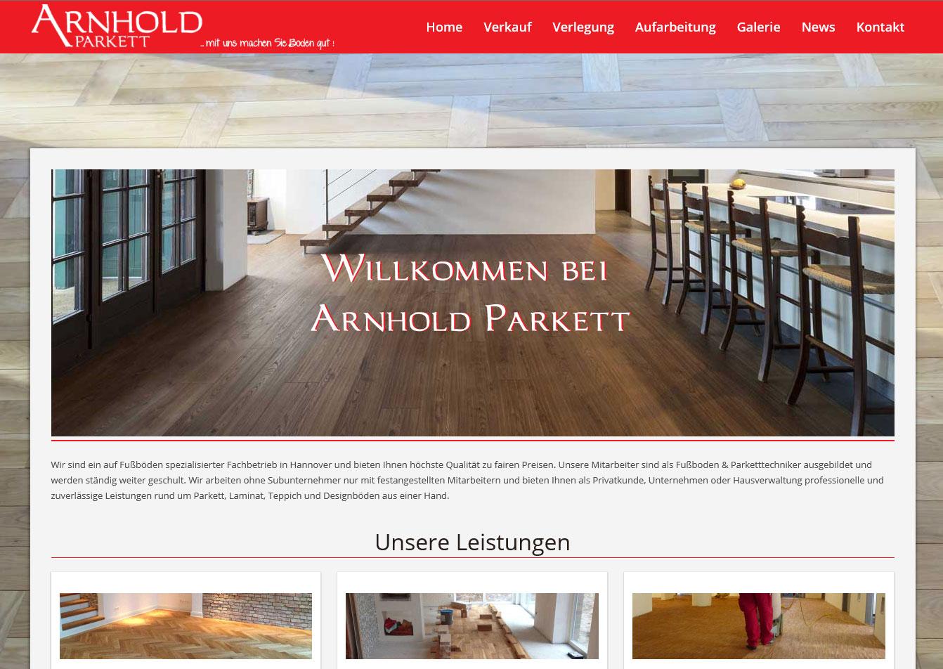 Parkett Hannover webdesigner hannover webdesign hannover internetauftritt arnhold