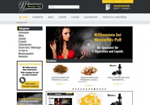 Onlineshop für E-Zigaretten