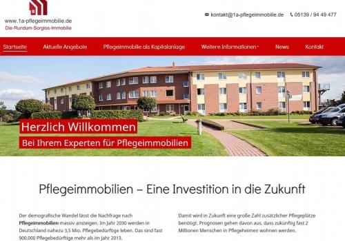 Internetauftritt für Immobilienunternehmen