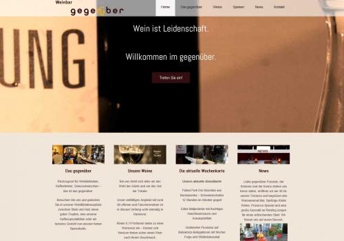 Internetauftritt für Weinbar