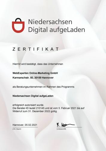 zertifikat-webexperten-online-marketing-gmbh